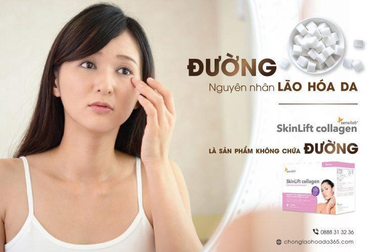 SkinLift collagen chống lão hóa da không đường