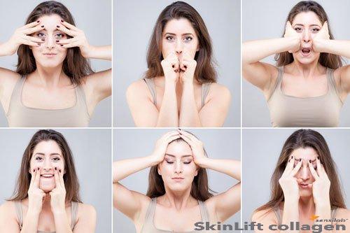 Yoga face cho một khuôn mặt nói không với vết nhăn -skinLift collagen