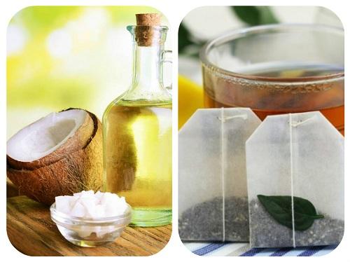Trị nhăn vùng mắt bàng dầu dừa túi trà hiệu quả -skinLift collagen
